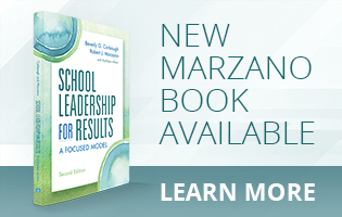 New Robert J. Marzano Book – School Leadership for Results: A Focused Model